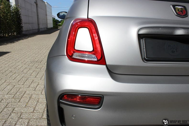 Fiat 595 Abart naar matte grey Aluminium, Carwrapping door Wrapmyride.nu Foto-nr:10017, ©2020