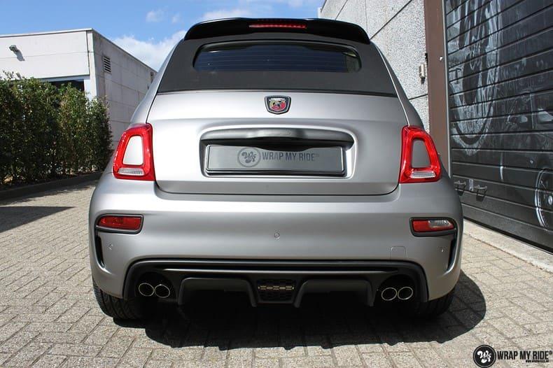 Fiat 595 Abart naar matte grey Aluminium, Carwrapping door Wrapmyride.nu Foto-nr:10018, ©2021