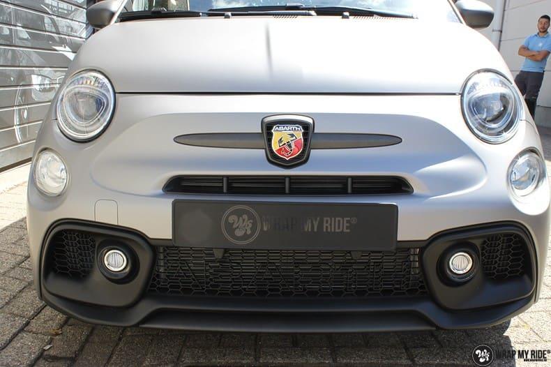 Fiat 595 Abart naar matte grey Aluminium, Carwrapping door Wrapmyride.nu Foto-nr:10020, ©2020