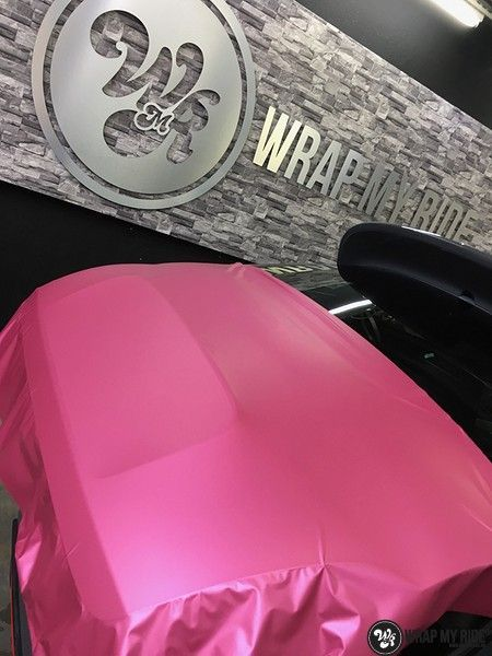 Fiat 695 Abarth avery matte pink metallic, Carwrapping door Wrapmyride.nu Foto-nr:11185, ©2018