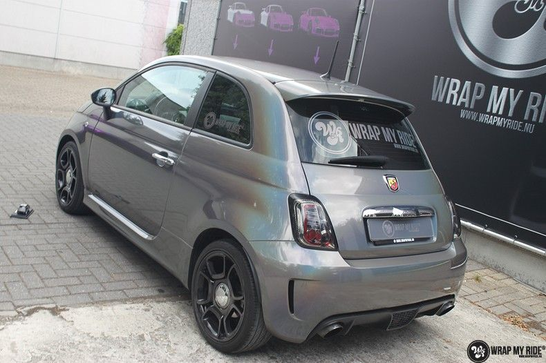 Fiat Abarth 3M gloss Psychedelic Flip, Carwrapping door Wrapmyride.nu Foto-nr:11688, ©2020