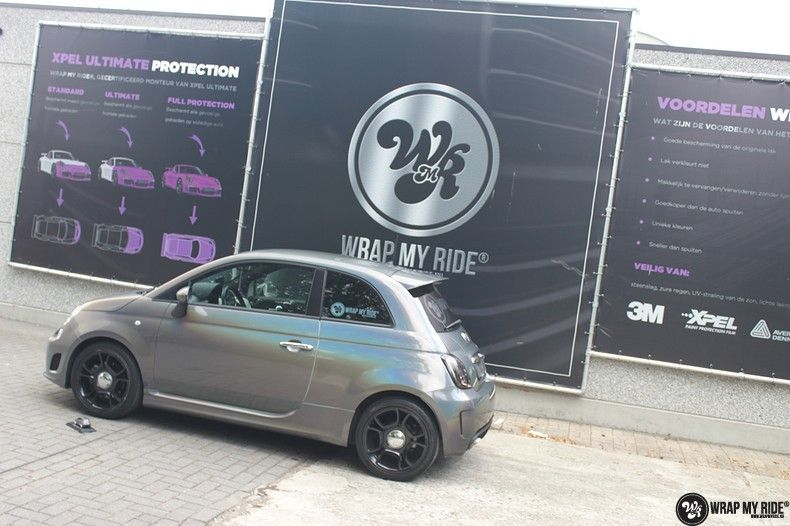 Fiat Abarth 3M gloss Psychedelic Flip, Carwrapping door Wrapmyride.nu Foto-nr:11685, ©2020