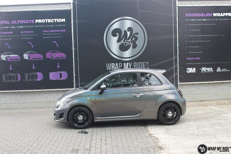 Fiat Abarth 3M gloss Psychedelic Flip, Carwrapping door Wrapmyride.nu Foto-nr:11684, ©2020