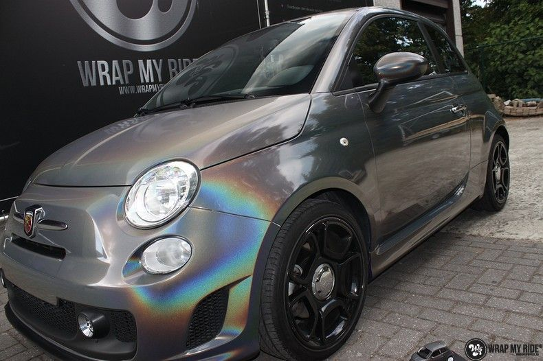 Fiat Abarth 3M gloss Psychedelic Flip, Carwrapping door Wrapmyride.nu Foto-nr:11681, ©2020