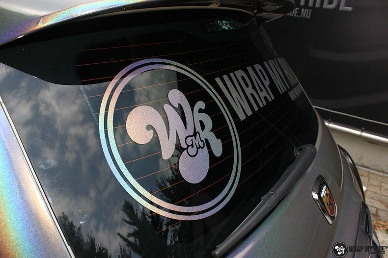 Fiat Abarth 3M gloss Psychedelic Flip, Carwrapping door Wrapmyride.nu Foto-nr:11676, ©2021