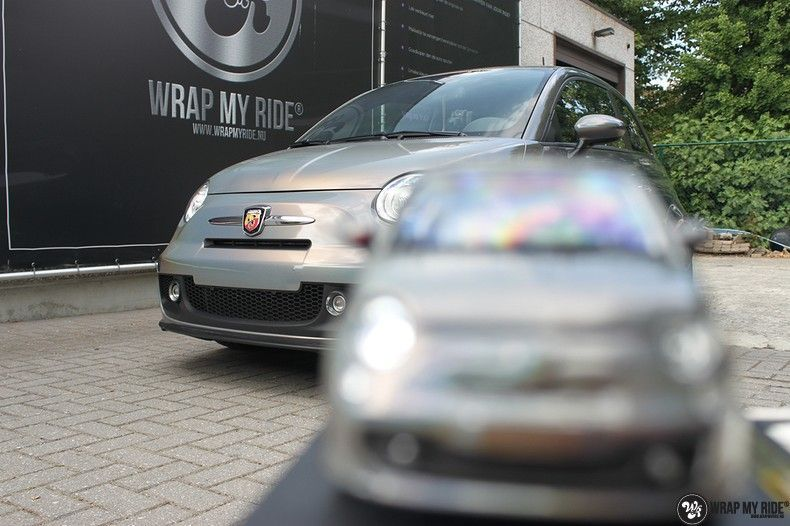 Fiat Abarth 3M gloss Psychedelic Flip, Carwrapping door Wrapmyride.nu Foto-nr:11672, ©2020