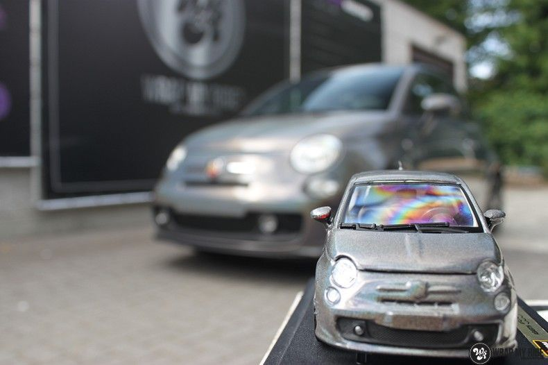 Fiat Abarth 3M gloss Psychedelic Flip, Carwrapping door Wrapmyride.nu Foto-nr:11671, ©2020