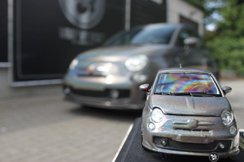 Fiat Abarth 3M gloss Psychedelic Flip, Carwrapping door Wrapmyride.nu Foto-nr:11668, ©2020