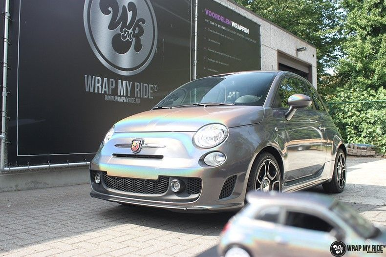 Fiat Abarth 3M gloss Psychedelic Flip, Carwrapping door Wrapmyride.nu Foto-nr:11666, ©2020