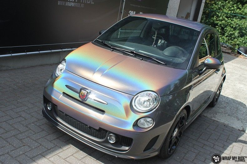 Fiat Abarth 3M gloss Psychedelic Flip, Carwrapping door Wrapmyride.nu Foto-nr:11665, ©2021