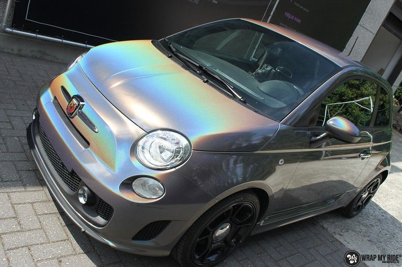 Fiat Abarth 3M gloss Psychedelic Flip, Carwrapping door Wrapmyride.nu Foto-nr:11664, ©2021