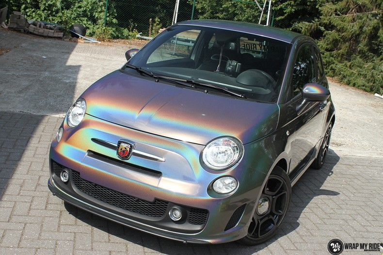 Fiat Abarth 3M gloss Psychedelic Flip, Carwrapping door Wrapmyride.nu Foto-nr:11663, ©2020