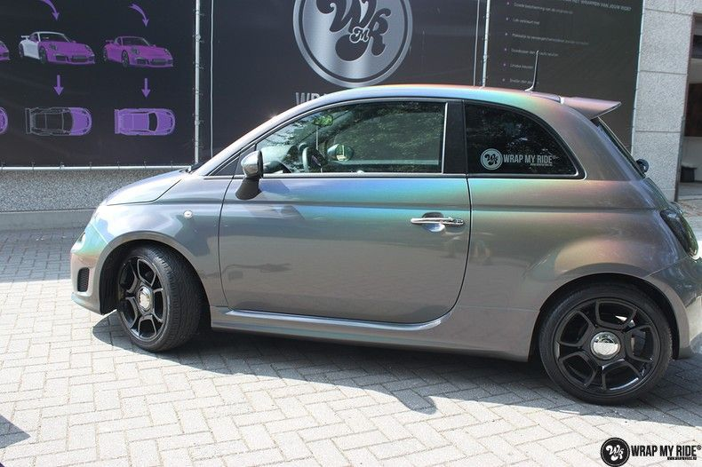 Fiat Abarth 3M gloss Psychedelic Flip, Carwrapping door Wrapmyride.nu Foto-nr:11662, ©2020