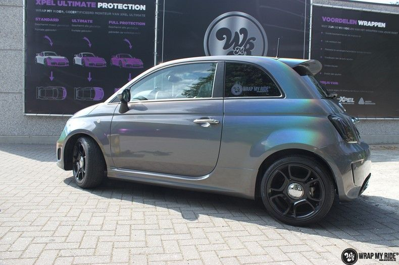 Fiat Abarth 3M gloss Psychedelic Flip, Carwrapping door Wrapmyride.nu Foto-nr:11661, ©2020