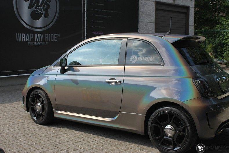 Fiat Abarth 3M gloss Psychedelic Flip, Carwrapping door Wrapmyride.nu Foto-nr:11660, ©2021