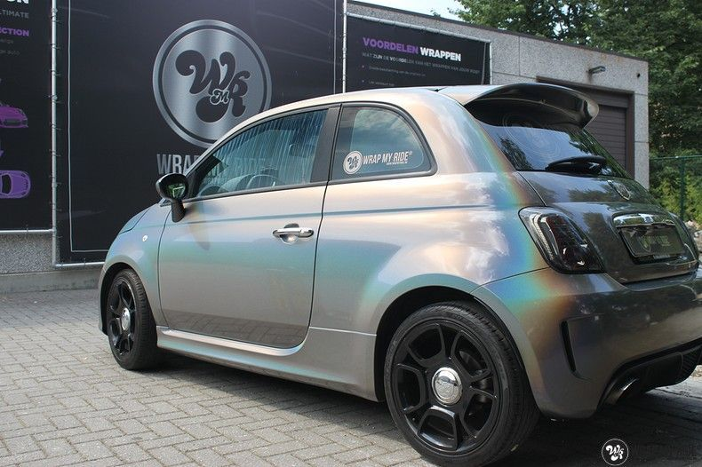Fiat Abarth 3M gloss Psychedelic Flip, Carwrapping door Wrapmyride.nu Foto-nr:11659, ©2020
