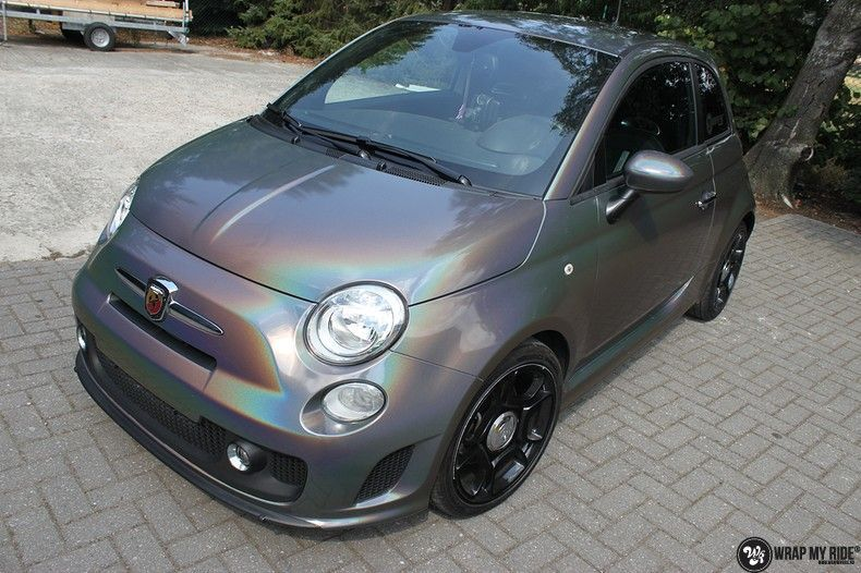 Fiat Abarth 3M gloss Psychedelic Flip, Carwrapping door Wrapmyride.nu Foto-nr:11658, ©2020
