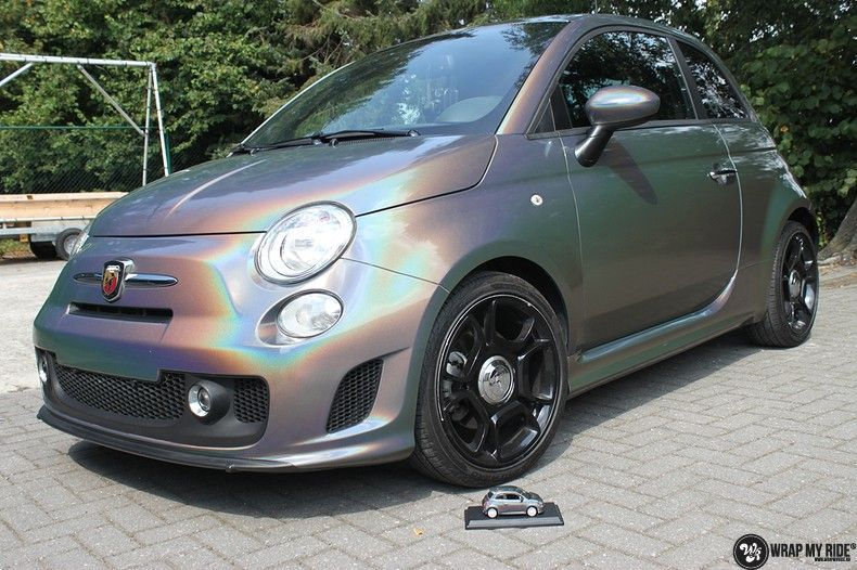 Fiat Abarth 3M gloss Psychedelic Flip, Carwrapping door Wrapmyride.nu Foto-nr:11657, ©2020