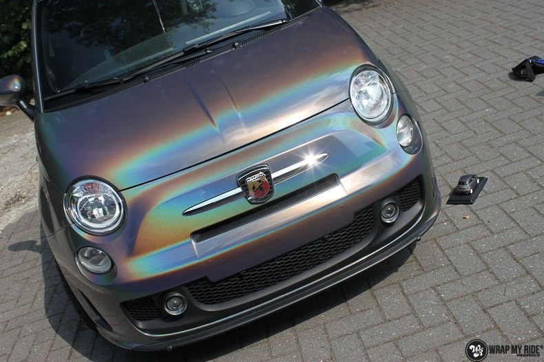 Fiat Abarth 3M gloss Psychedelic Flip, Carwrapping door Wrapmyride.nu Foto-nr:11656, ©2020