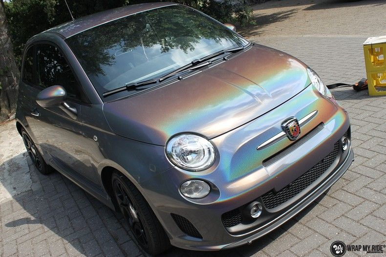 Fiat Abarth 3M gloss Psychedelic Flip, Carwrapping door Wrapmyride.nu Foto-nr:11655, ©2020