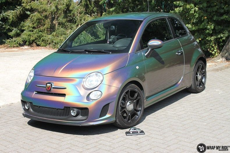 Fiat Abarth 3M gloss Psychedelic Flip, Carwrapping door Wrapmyride.nu Foto-nr:11651, ©2020