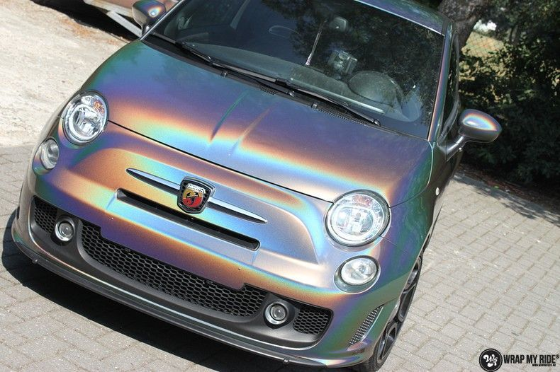 Fiat Abarth 3M gloss Psychedelic Flip, Carwrapping door Wrapmyride.nu Foto-nr:11650, ©2020