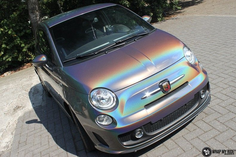 Fiat Abarth 3M gloss Psychedelic Flip, Carwrapping door Wrapmyride.nu Foto-nr:11649, ©2020