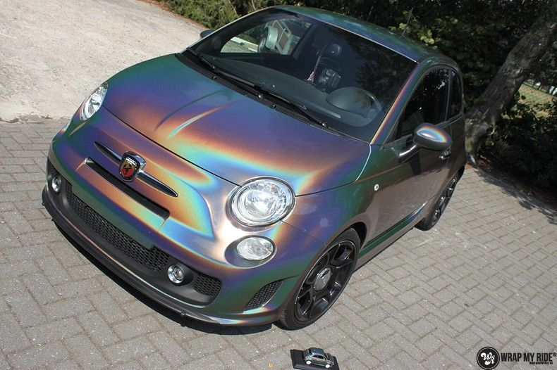 Fiat Abarth 3M gloss Psychedelic Flip, Carwrapping door Wrapmyride.nu Foto-nr:11648, ©2020