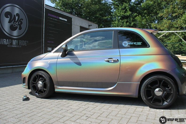 Fiat Abarth 3M gloss Psychedelic Flip, Carwrapping door Wrapmyride.nu Foto-nr:11647, ©2020