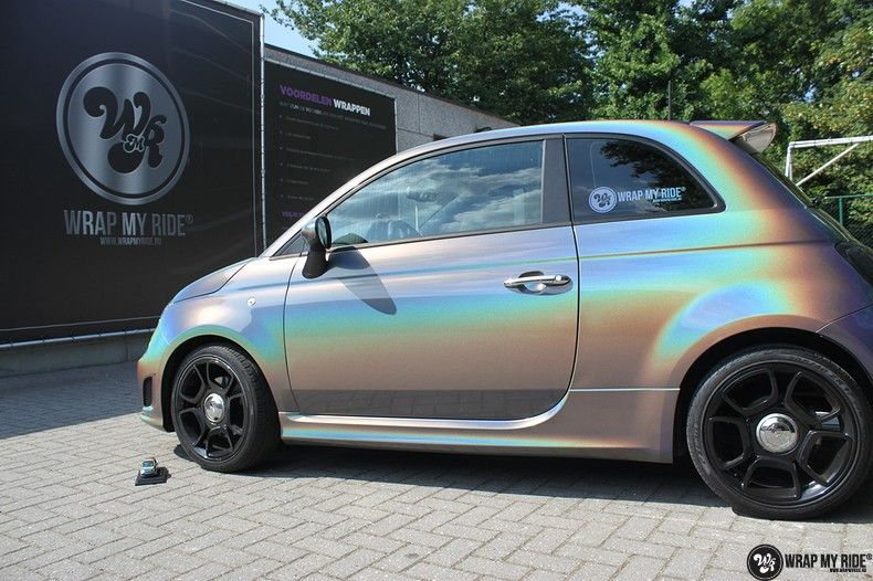 Fiat Abarth 3M gloss Psychedelic Flip, Carwrapping door Wrapmyride.nu Foto-nr:11646, ©2020