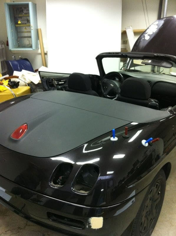 Fiat Barchetta met bat Mobile Style Wrap, Carwrapping door Wrapmyride.nu Foto-nr:5733, ©2020