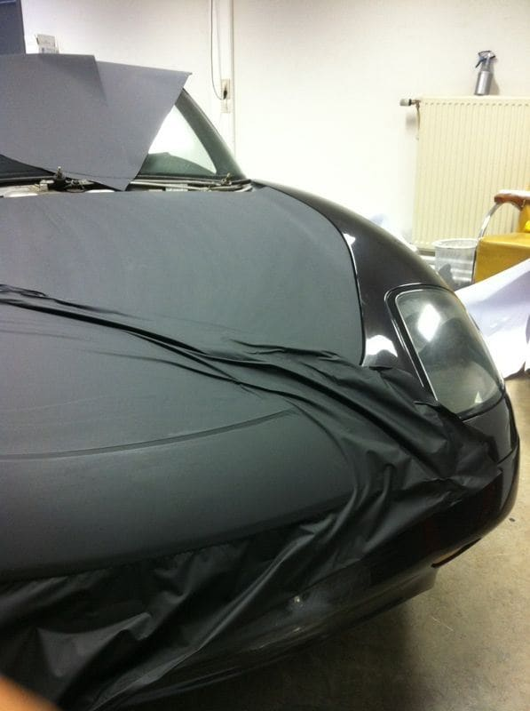 Fiat Barchetta met bat Mobile Style Wrap, Carwrapping door Wrapmyride.nu Foto-nr:5738, ©2020