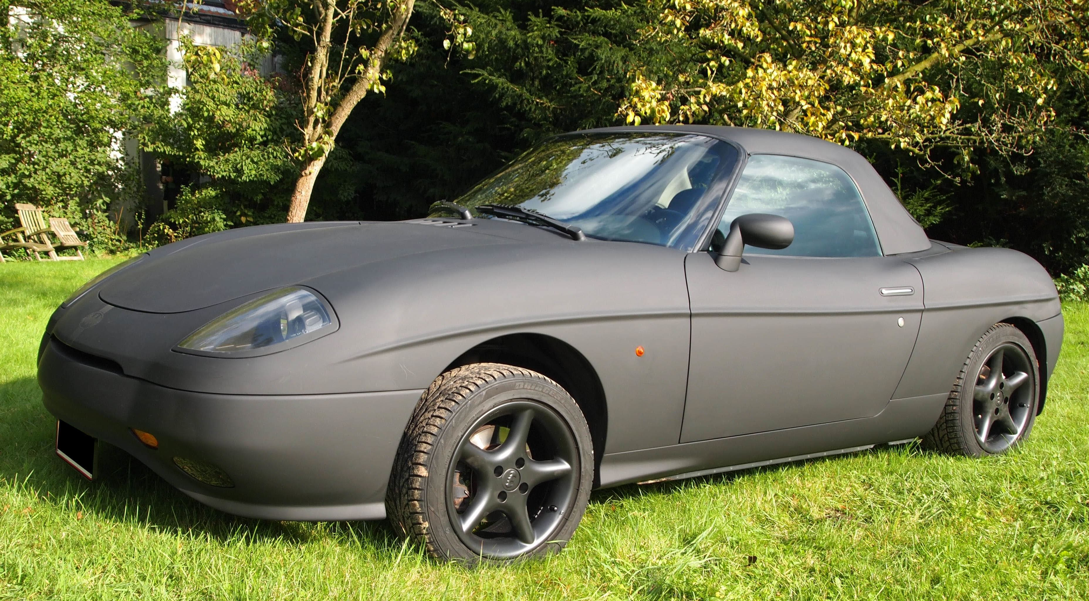 Fiat Barchetta met bat Mobile Style Wrap, Carwrapping door Wrapmyride.nu Foto-nr:5740, ©2020