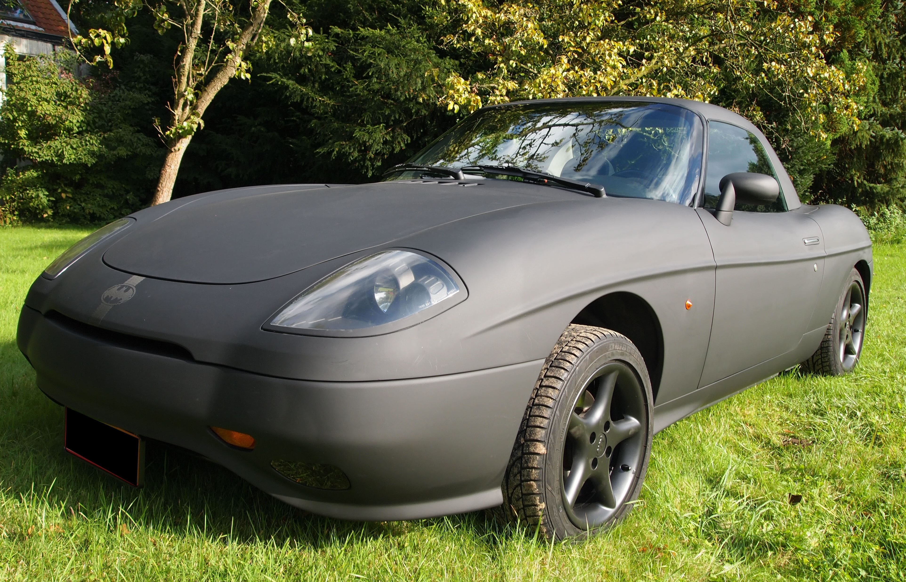 Fiat Barchetta met bat Mobile Style Wrap, Carwrapping door Wrapmyride.nu Foto-nr:5741, ©2020