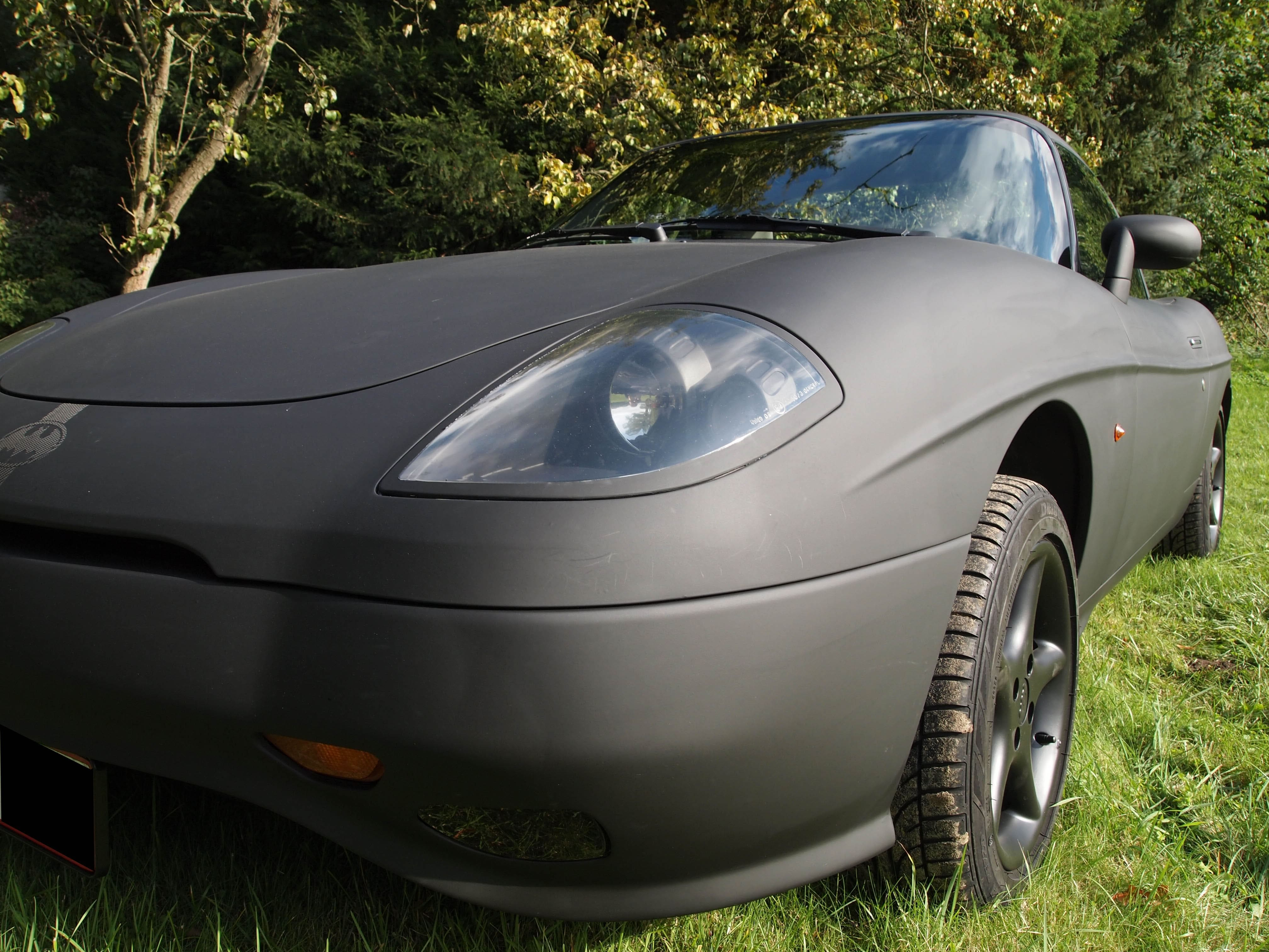 Fiat Barchetta met bat Mobile Style Wrap, Carwrapping door Wrapmyride.nu Foto-nr:5744, ©2020