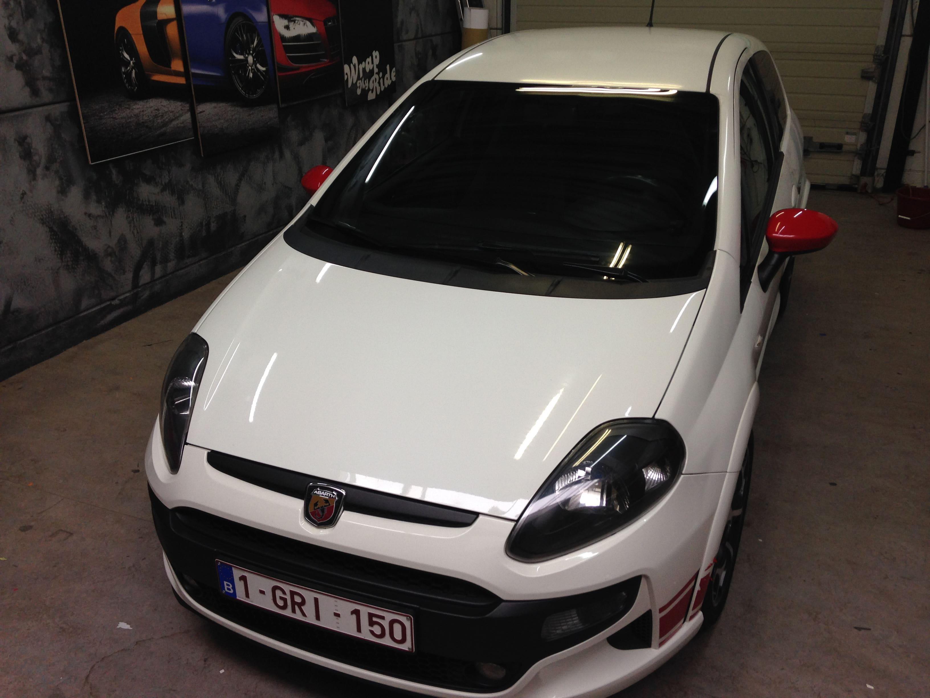 Fiat Punto Abarth met een Gunpowder Wrap, Carwrapping door Wrapmyride.nu Foto-nr:5761, ©2020