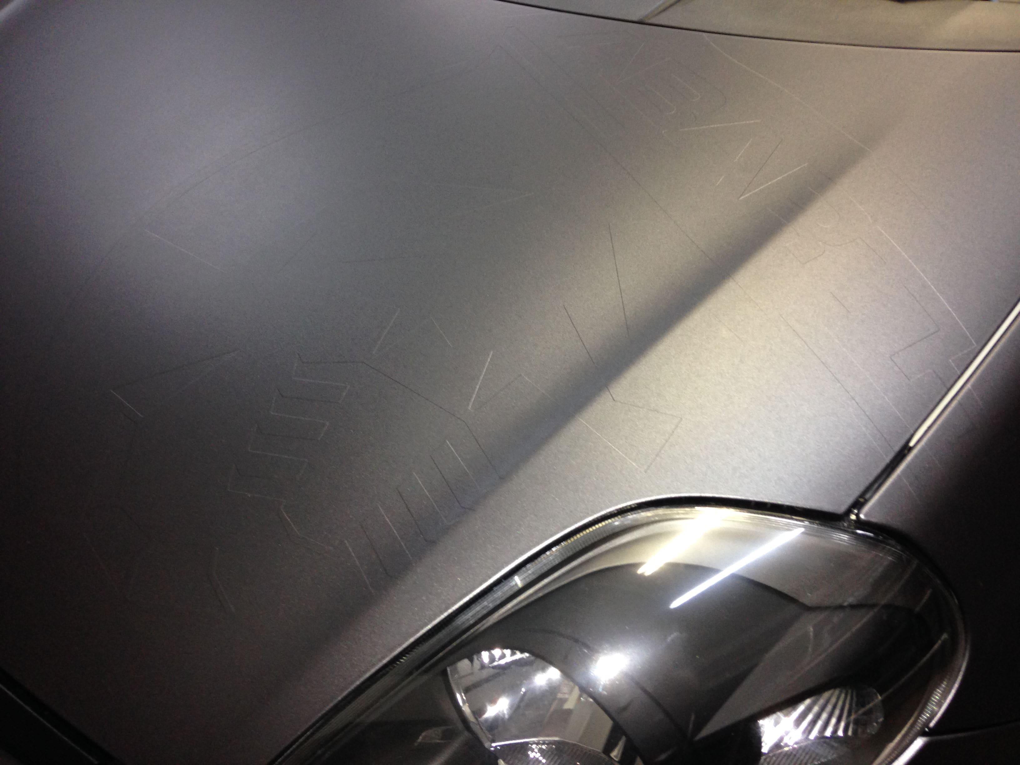 Fiat Punto Abarth met een Gunpowder Wrap, Carwrapping door Wrapmyride.nu Foto-nr:5768, ©2021
