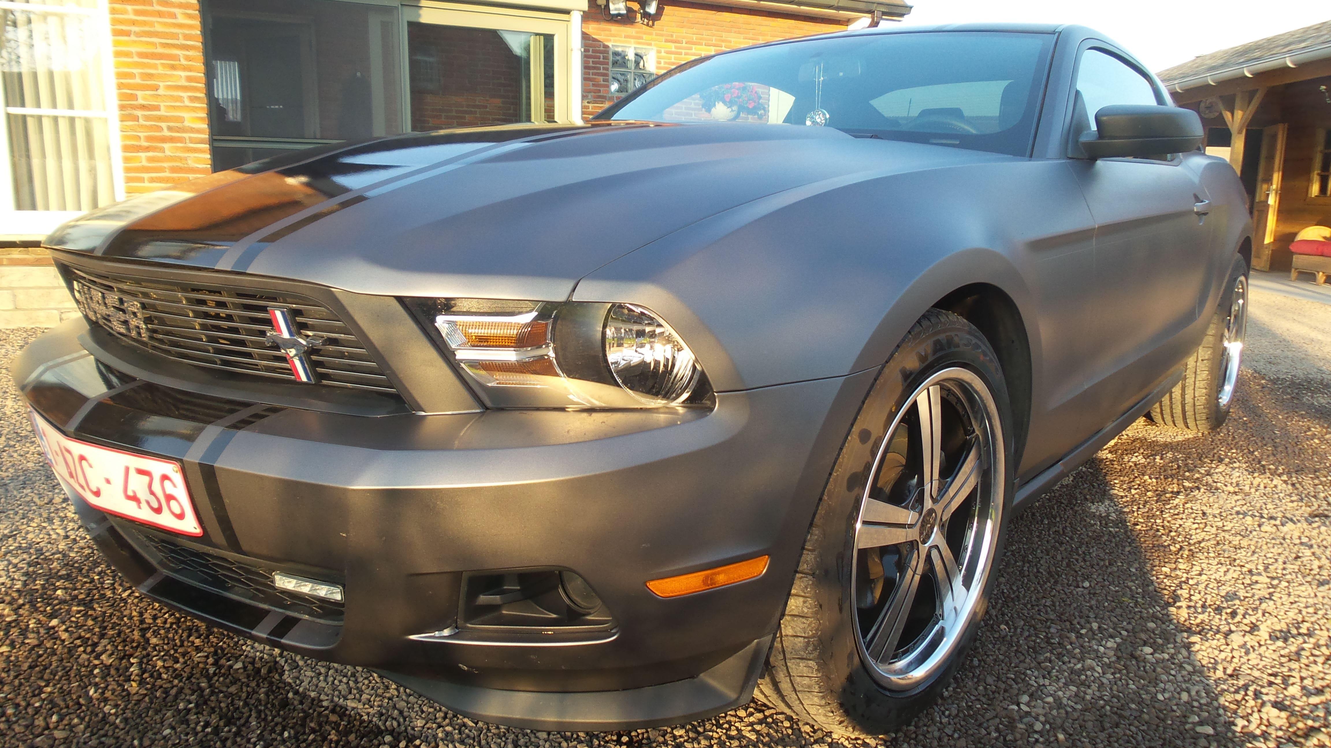 Ford Mustang 2009 met Gunpowder Wrap, Carwrapping door Wrapmyride.nu Foto-nr:5808, ©2020