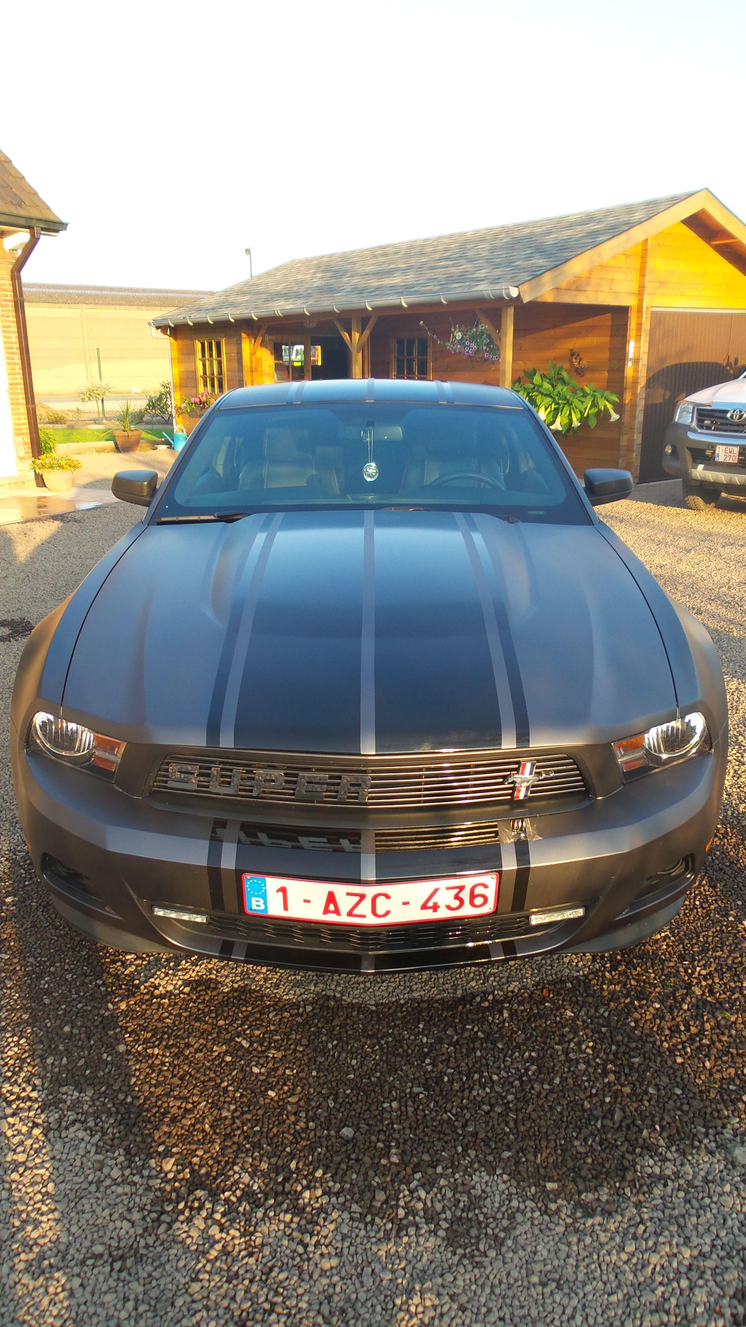 Ford Mustang 2009 met Gunpowder Wrap, Carwrapping door Wrapmyride.nu Foto-nr:5813, ©2021