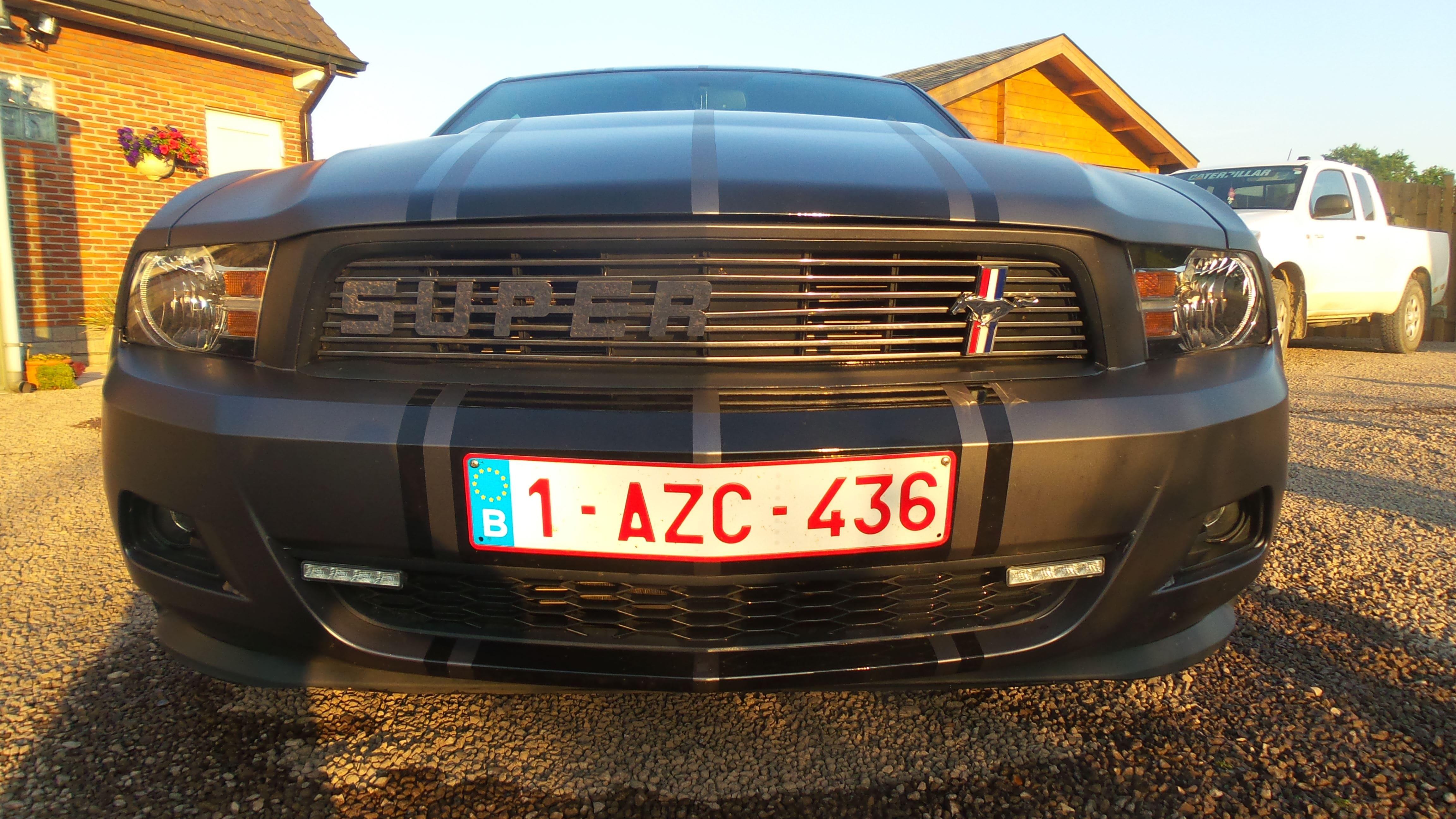Ford Mustang 2009 met Gunpowder Wrap, Carwrapping door Wrapmyride.nu Foto-nr:5814, ©2021