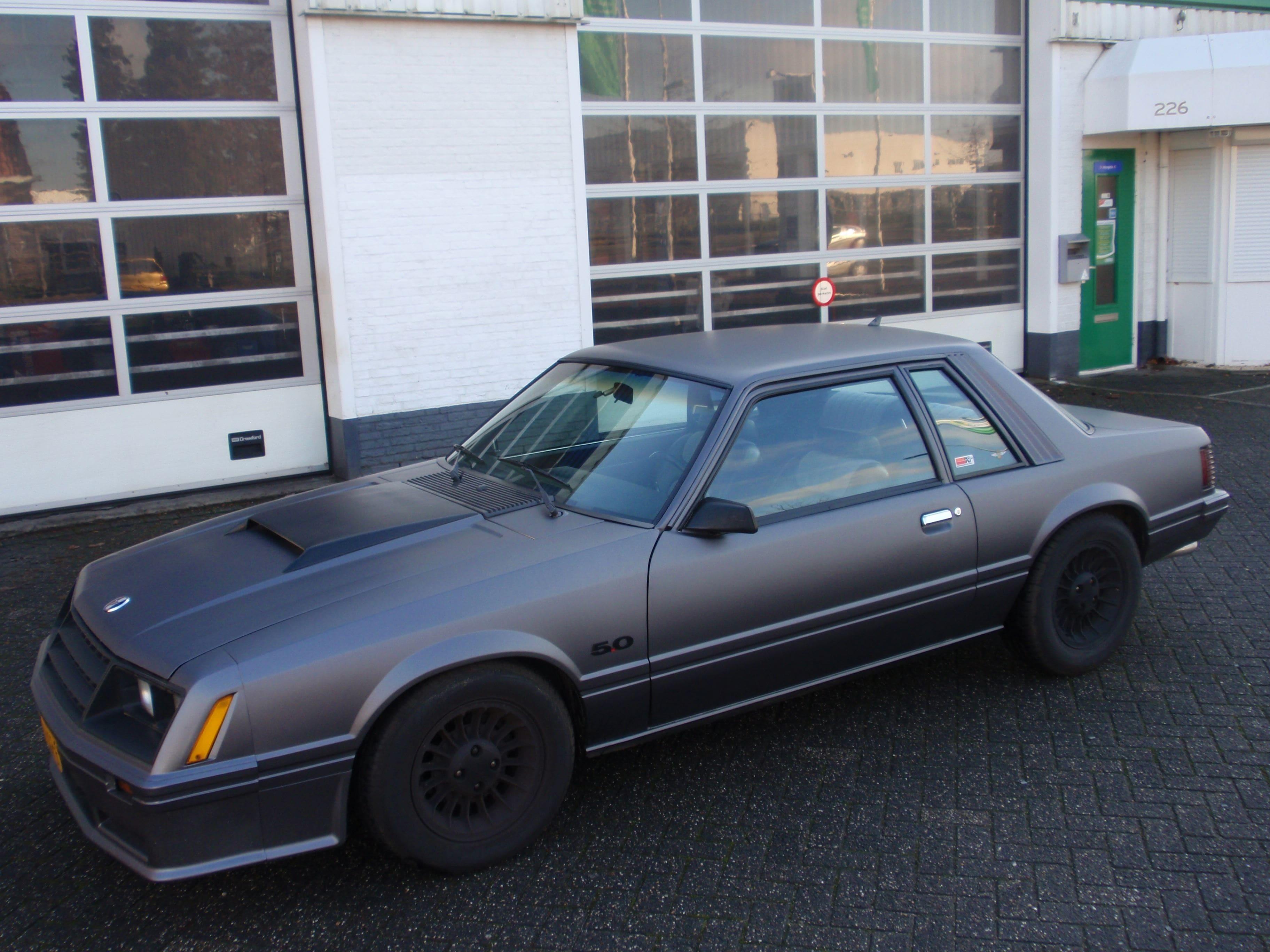 Ford Mustang Mach 3 met Mat Zwarte Wrap, Carwrapping door Wrapmyride.nu Foto-nr:5837, ©2020