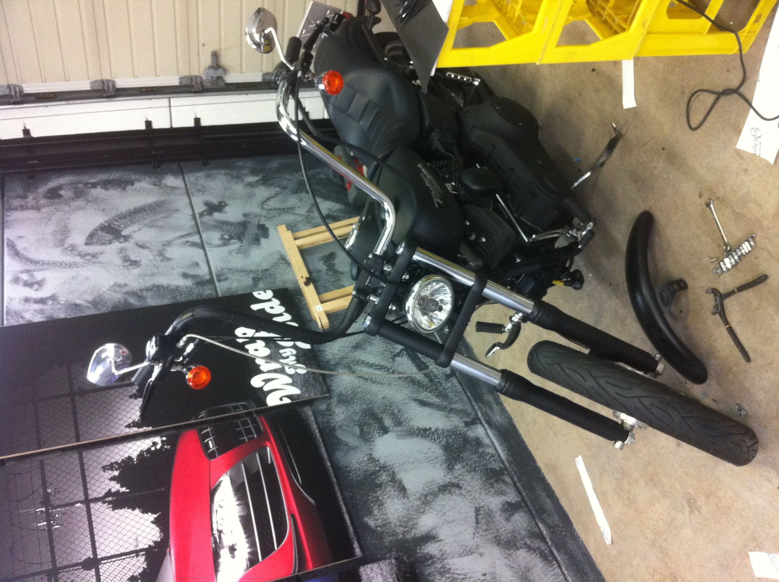 Harley Davidson met Mat Zwarte Wrap, Carwrapping door Wrapmyride.nu Foto-nr:5873, ©2020