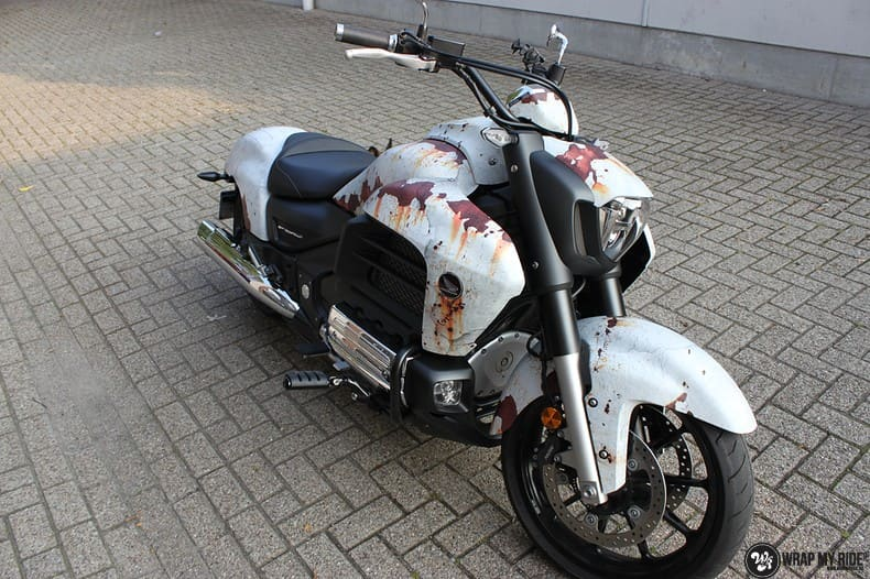 Honda F6C full colour roest wrap, Carwrapping door Wrapmyride.nu Foto-nr:10410, ©2021