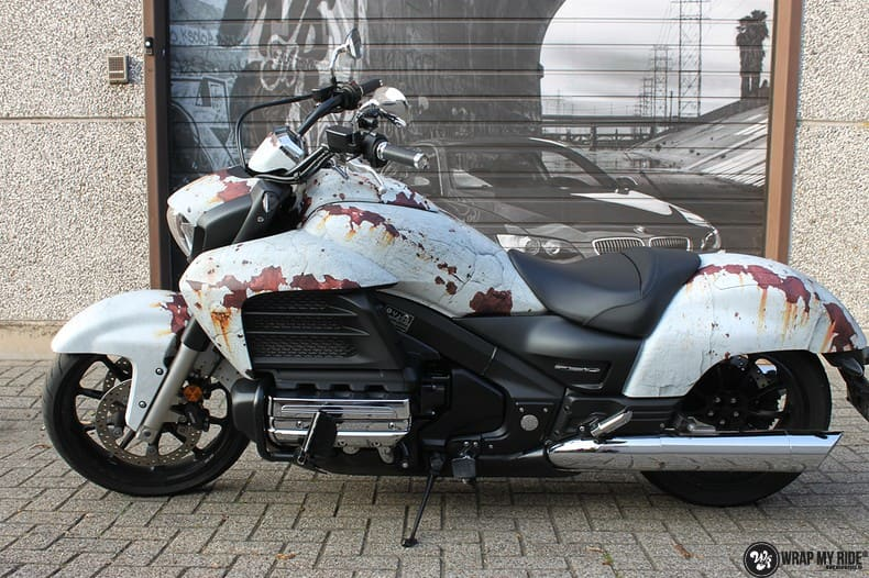 Honda F6C full colour roest wrap, Carwrapping door Wrapmyride.nu Foto-nr:10408, ©2021