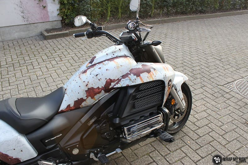 Honda F6C full colour roest wrap, Carwrapping door Wrapmyride.nu Foto-nr:10399, ©2021