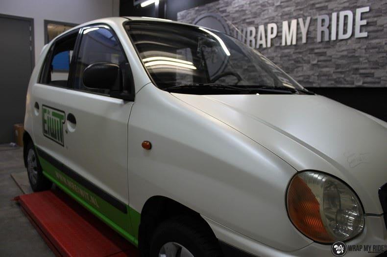 Hyundai Atos MR EIWIT, Carwrapping door Wrapmyride.nu Foto-nr:8732, ©2018