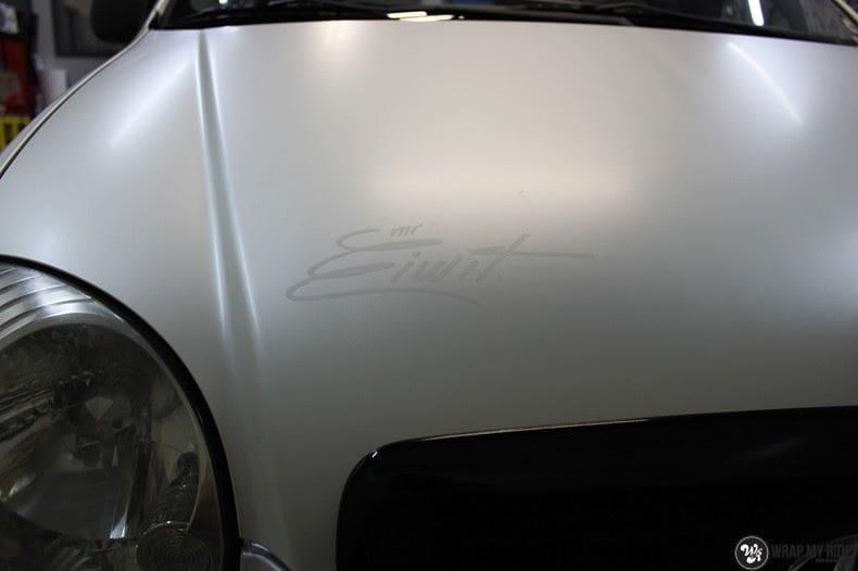 Hyundai Atos MR EIWIT, Carwrapping door Wrapmyride.nu Foto-nr:8730, ©2018