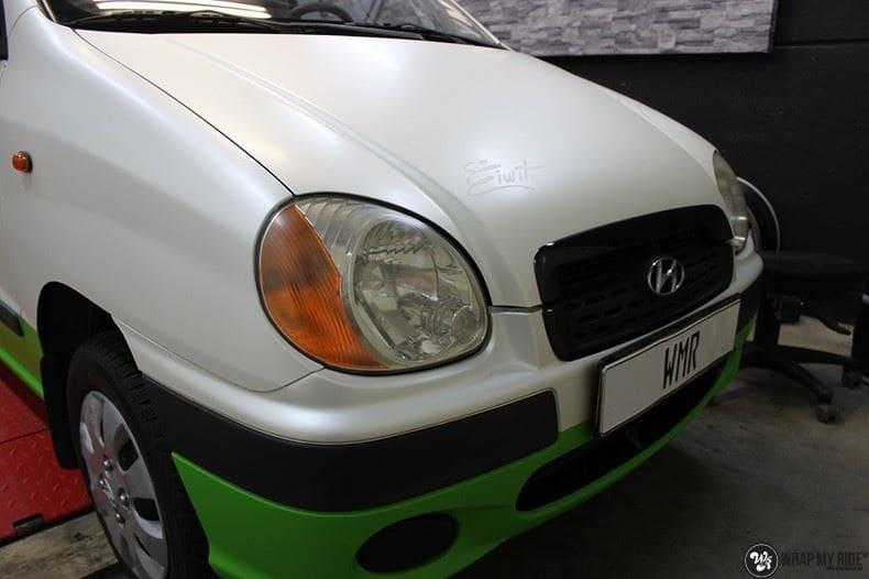 Hyundai Atos MR EIWIT, Carwrapping door Wrapmyride.nu Foto-nr:8729, ©2018