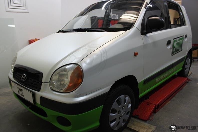 Hyundai Atos MR EIWIT, Carwrapping door Wrapmyride.nu Foto-nr:8728, ©2018