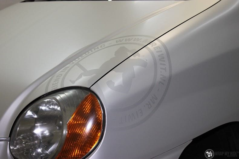 Hyundai Atos MR EIWIT, Carwrapping door Wrapmyride.nu Foto-nr:8727, ©2018